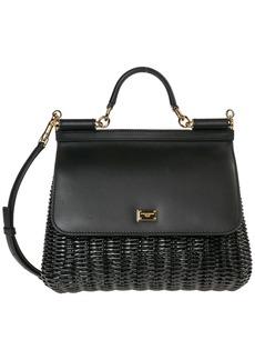 Dolce & Gabbana Leather Handbag Shopping Bag Purse Sicily