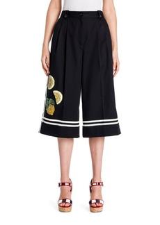 Dolce & Gabbana Lemon-Embellished Cotton Culottes