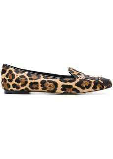 Dolce & Gabbana Leo ballerinas with DG Family patch - Brown