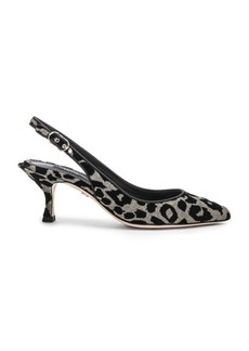 Dolce & Gabbana Leo Print Slingback Pumps