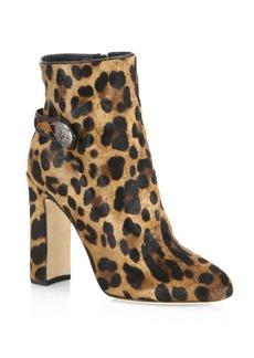 Dolce & Gabbana Leopard-Print Calf Hair Booties