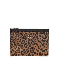 Dolce & Gabbana Leopard-print pouch