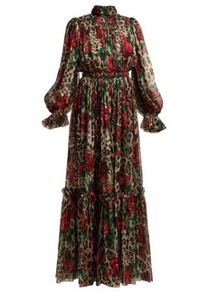 Dolce & Gabbana Leopard-print silk-chiffon jumpsuit