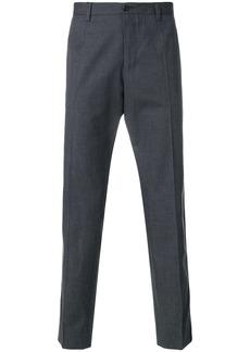 Dolce & Gabbana leopard print stripe tailored trousers - Grey