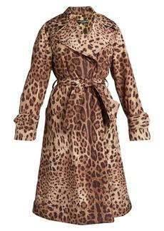 Dolce & Gabbana Leopard-print tie-waist coat