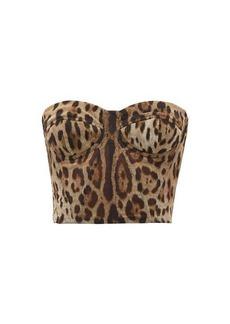 Dolce & Gabbana Leopard-print tulle bustier