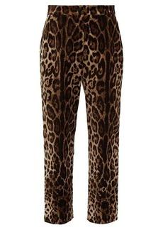 Dolce & Gabbana Leopard-print velvet trousers
