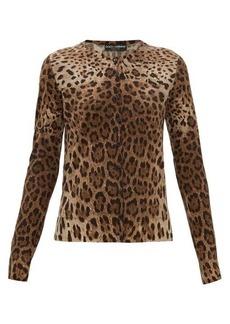 Dolce & Gabbana Leopard-print virgin-wool cardigan