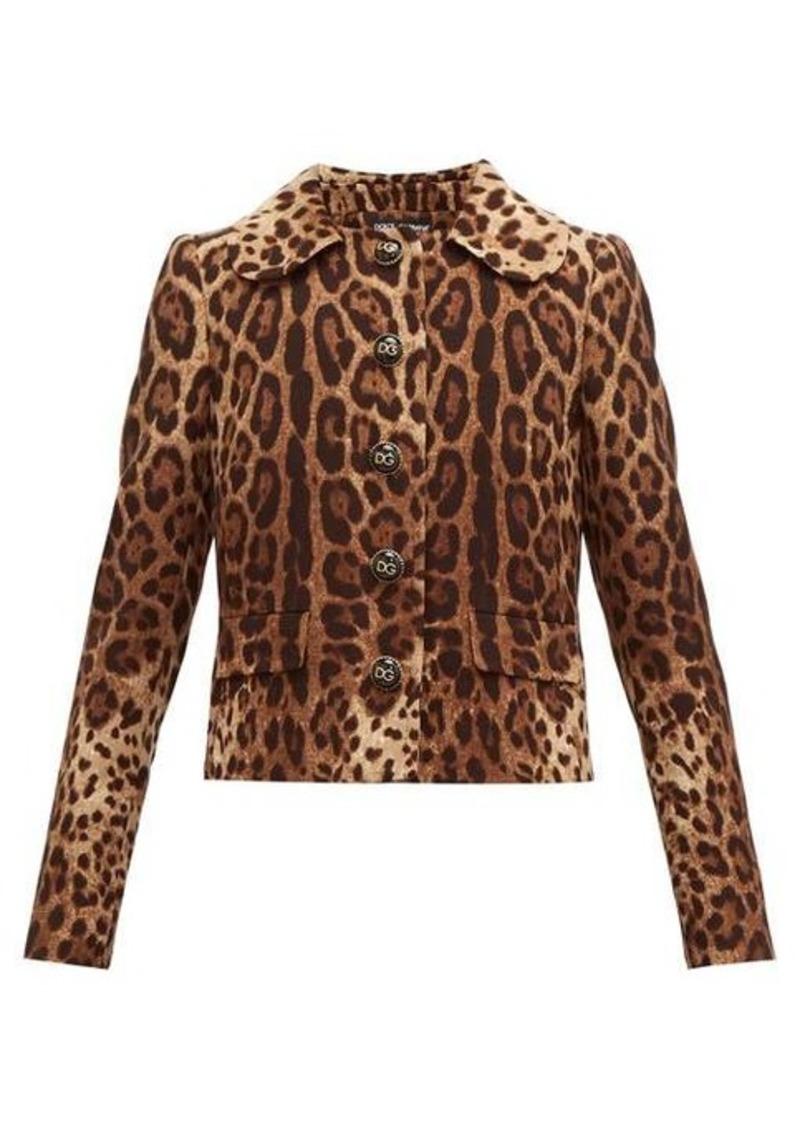 Dolce & Gabbana Leopard-print wool-crepe jacket