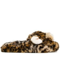 Dolce & Gabbana leopard slippers - Brown