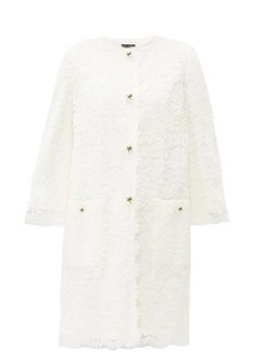 Dolce & Gabbana Lily-button guipure-lace coat