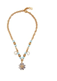 Dolce & Gabbana Logo and star crystal-embellished necklace