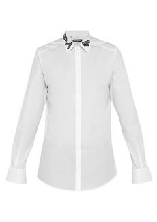 Dolce & Gabbana Logo-appliqué cotton shirt