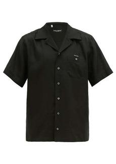 Dolce & Gabbana Logo-appliqué linen shirt