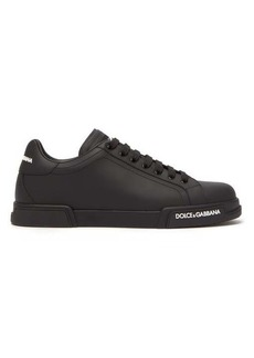 Dolce & Gabbana Logo-embossed leather trainers