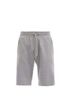 Dolce & Gabbana Logo-embroidered cotton-jersey shorts
