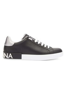 Dolce & Gabbana Logo leather low-top trainers