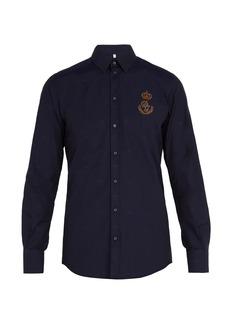 Dolce & Gabbana Logo-patch cotton shirt