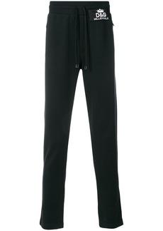 Dolce & Gabbana logo patch track pants - Black