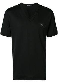 Dolce & Gabbana logo plaque v-neck T-shirt