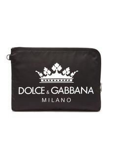 Dolce & Gabbana Logo-print nylon pouch