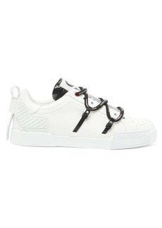 Dolce & Gabbana Logo-print rubberised-leather trainers