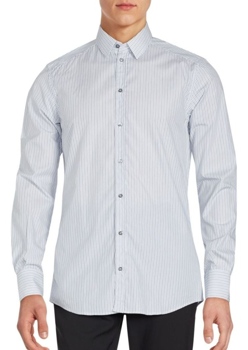 Dolce & Gabbana Long Sleeve Striped Sportshirt
