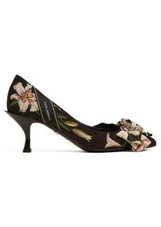 Dolce & Gabbana Lori lily-print canvas pumps