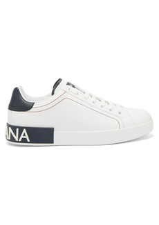 Dolce & Gabbana Low-top leather logo trainers