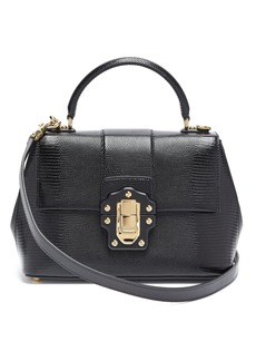 Dolce & Gabbana Lucia lizard-effect leather bag