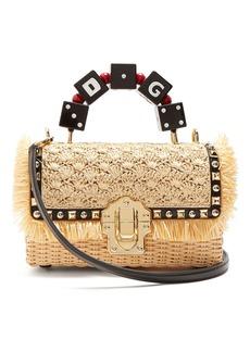 Dolce & Gabbana Lucia stud-embellished wicker basket bag