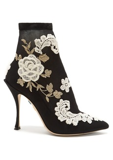 Dolce & Gabbana Macramé-embroidered sock boots