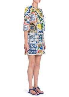 Dolce & Gabbana Maiolica Print Shift Dress