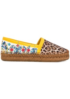 Dolce & Gabbana Majolica leopard print espadrilles - Multicolour