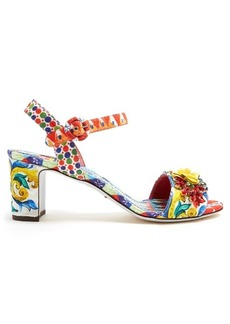 Dolce & Gabbana Majolica-print brocade sandals