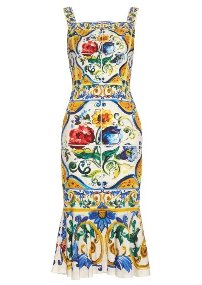 d00c16ee Dolce & Gabbana Dolce & Gabbana Majolica-print charmeuse dress | Dresses