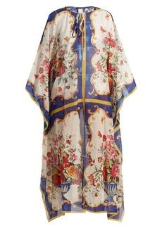 Dolce & Gabbana Majolica-print cotton and silk-blend kaftan