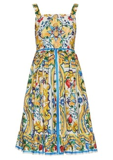 Dolce & Gabbana Majolica-print cotton dress