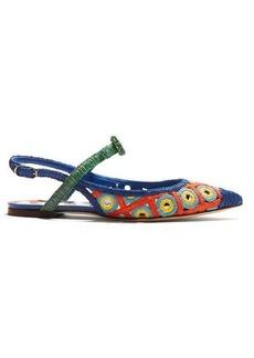 Dolce & Gabbana Majolica woven-wicker slingback pumps