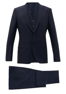 Dolce & Gabbana Martini-fit virgin wool-blend three-piece suit