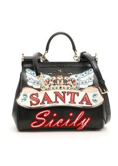 Dolce & Gabbana Medium Sicily Bag With Patch
