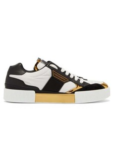 Dolce & Gabbana Miami metallic panelled leather trainers
