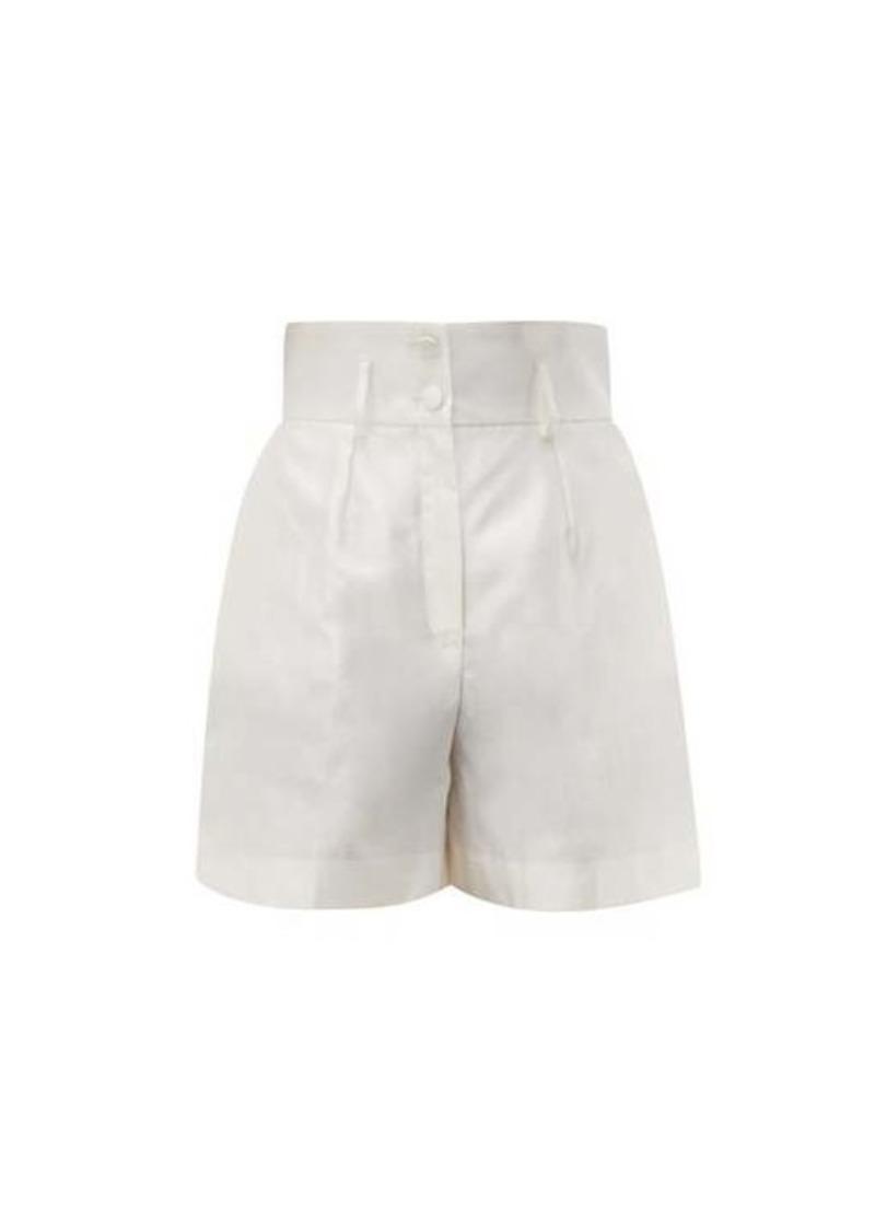 Dolce & Gabbana Micado silk-shantung shorts