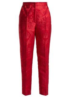 Dolce & Gabbana Mid-rise cherub-jacquard trousers
