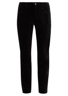 Dolce & Gabbana Mid-rise velvet trousers