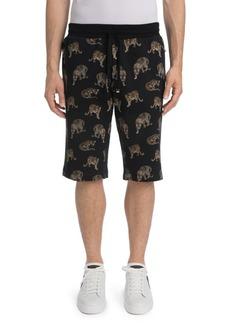Dolce & Gabbana Mini Leopard Cotton Sweatshorts