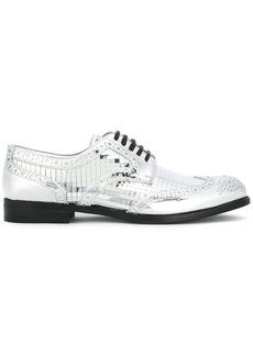 Dolce & Gabbana mirrored brogues - Metallic