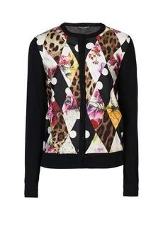 Dolce & Gabbana Montage-print cashmere-blend cardigan