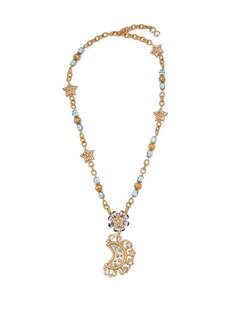 Dolce & Gabbana Moon and star crystal-embellished necklace