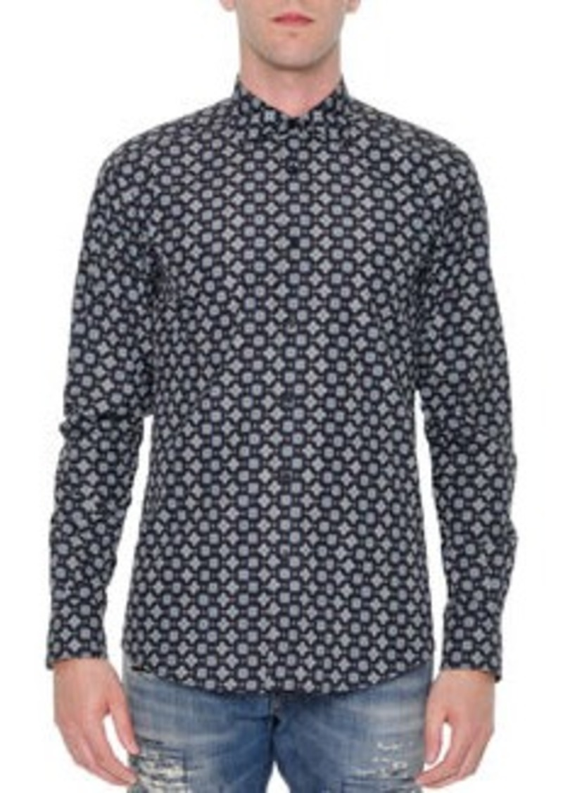 Dolce & Gabbana Multi Geo-Print Long-Sleeve Shirt